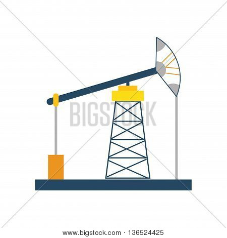Oil industry concept represented by oil pump icon. isolated and flat illustration
