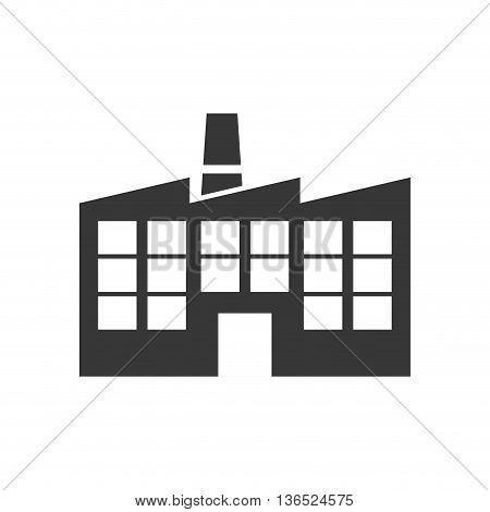 Industry concept represented by building plant icon. isolated and flat illustration