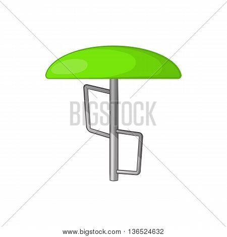 Children bar fungus icon in cartoon style isolated on white background. Entertainment for children symbol