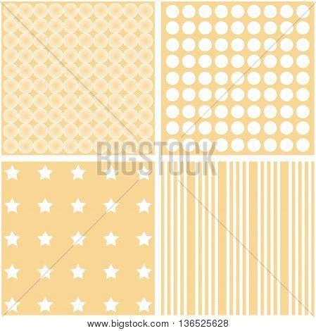Vector set of four different elegant pattern