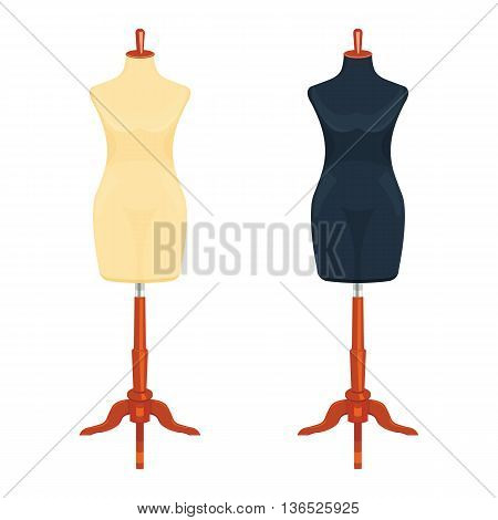 Sewing mannequin vector illustration isolated on a white background