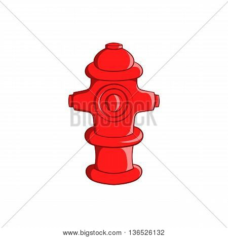 Fire hydrant icon in cartoon style isolated on white background. Equipment symbol