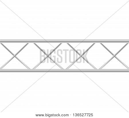 Barrier concept represented by metal icon. isolated and flat illustration