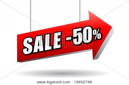 Sale signboard. Vector.