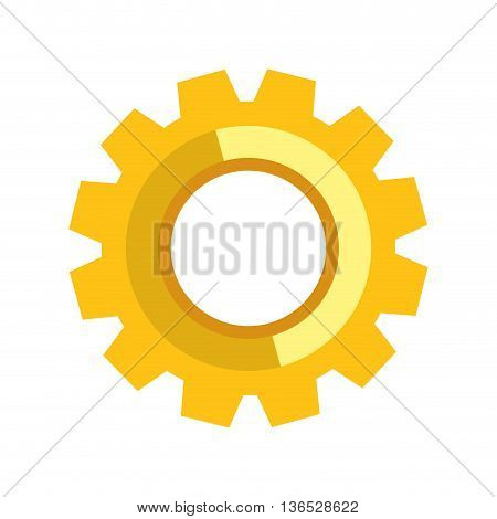 Machine part concept represented by gear icon. isolated and flat illustration