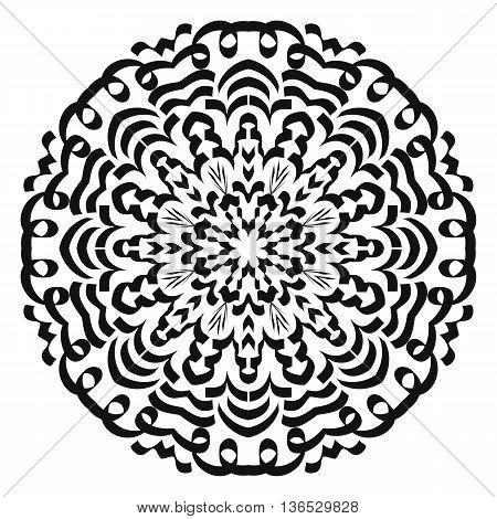 Oriental pattern mandala isolated on white background.
