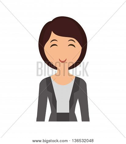 Person concept represented by woman cartoon icon. Isolated and Flat illustration