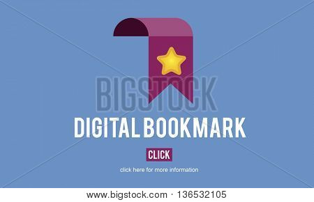 Digital Bookmark Internet Data Technology Concept