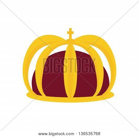 Royalty concept represented by crown icon. isolated and flat illustration
