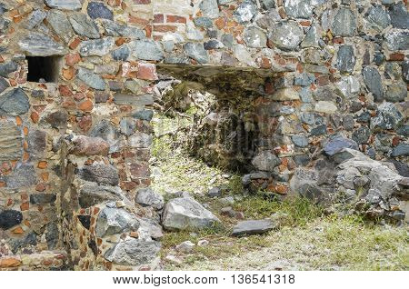 Ruins of a sugar mill on St. John island in the Caribbean.