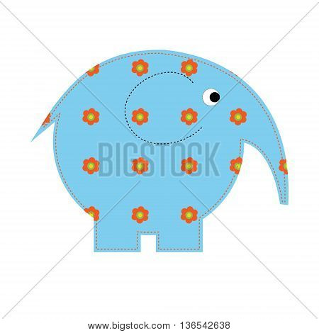 The baby elephant crafts with a flowers