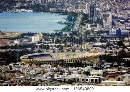 elevated view of city of Izmir, Turkey
