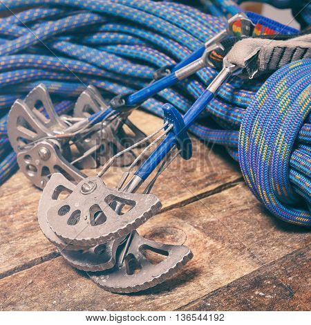 Rope And Equipment For Climbing