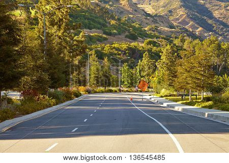 The winding road down the Hollywood hills.