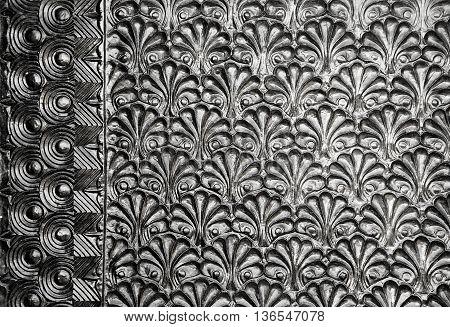 Part Of Flower. natural floral metallic texture