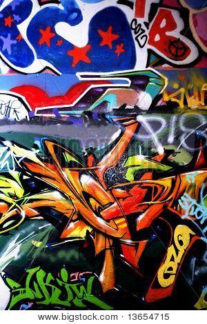 vertical graffiti shot
