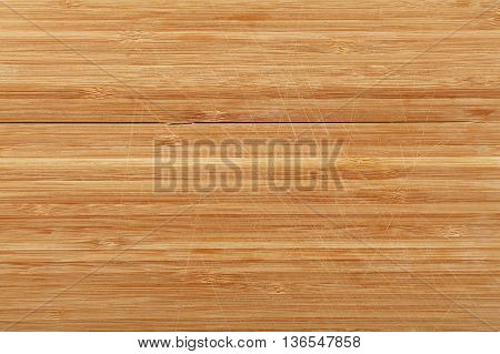 Bamboo Wood Chopping Board Background With Cuts