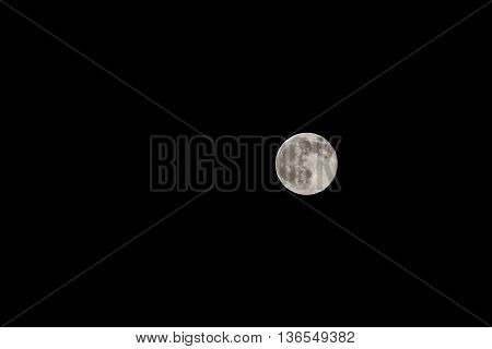 Full moon is the lunar phase during moon is completely illuminated