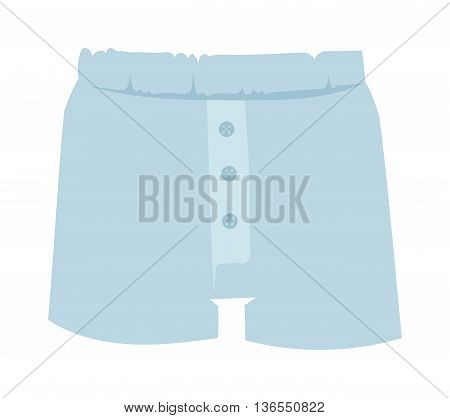 Blue mens boxer briefs isolated on white background. Fashion underwear clothes underpants boxers. Vector isolated panties briefs textile underpants boxers. Sport drawers fitness men underwear.
