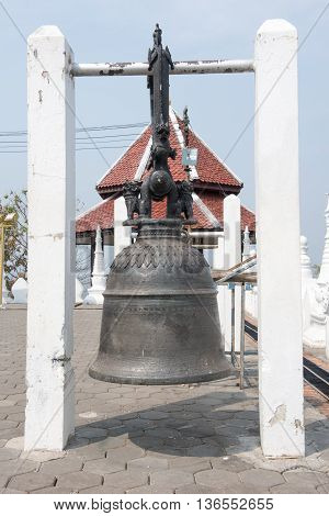 Iron bell in a temple in Thailand