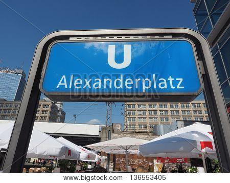 Alexanderplatz Subway Station In Berlin