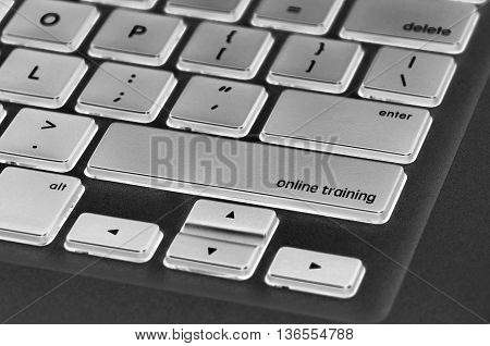 The Computer Keyboard Button Written Word Online Training