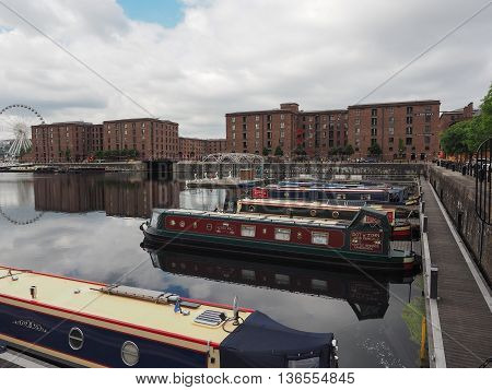 Albert Dock And Salthouse Dock In Liverpool