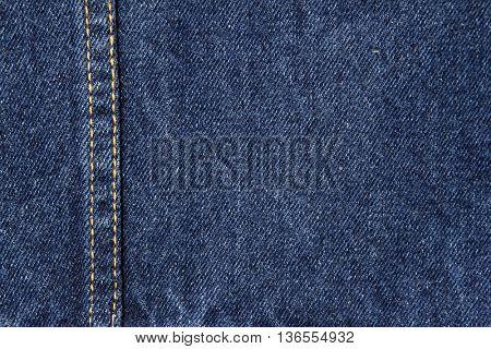 Closeup of blue denim fabric