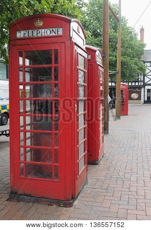 Red Phone Box In Liverpool