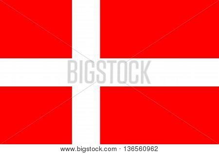 Denmark flag vector illustration national flag isolated