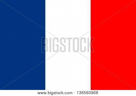 France flag vector illustration national flag isolated