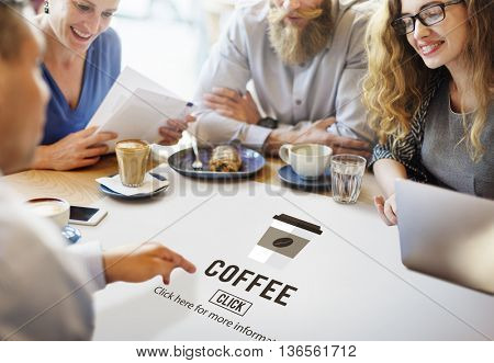 Coffee Cup Icon Drinking Beverage Concept
