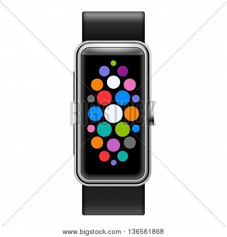 Modern Smart Watch with Color Apps Icons