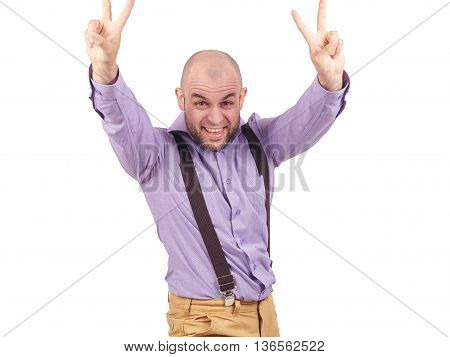 Portrait Of A Happy Successful Person The Winner.