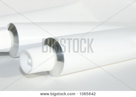 White Cream Tube With Path