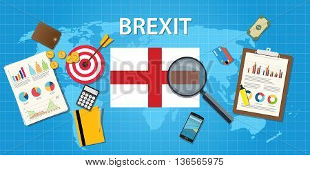 brexit british exit from european organization vector graphic illustration