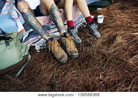 Camping Trip Holiday Vacation Exploration Relaxation Concept