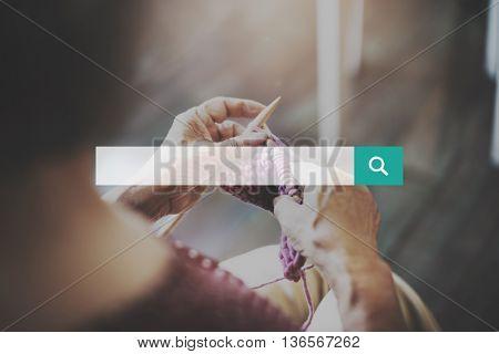Senior Woman Leisure Housework Handmade Concept