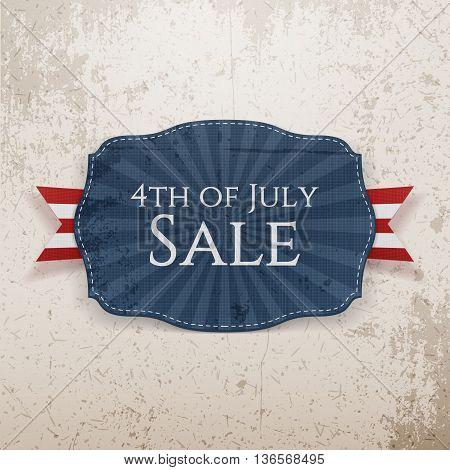 4th of July Sale Holiday Emblem. Vector Illustration