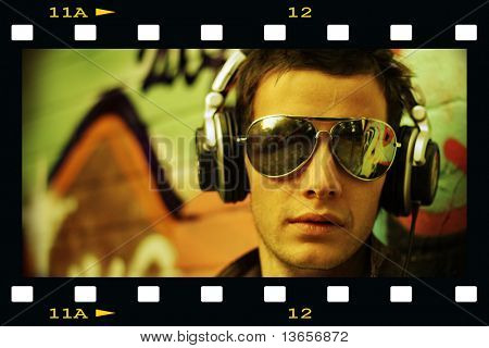 Concept of a Cool DJ movie star look
