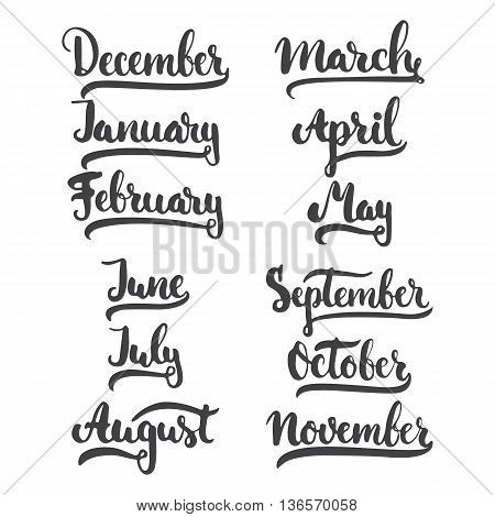 12 Month Of Year - January, February, March, April, May, June, July, August, September, October, Nov