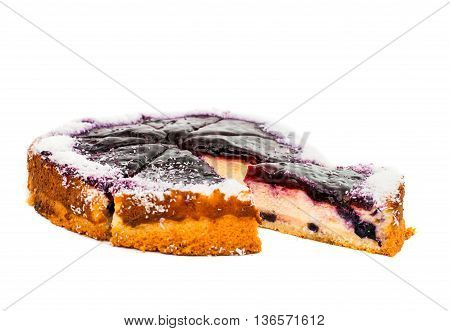 Cheesecake cream delicacy isolated on white background