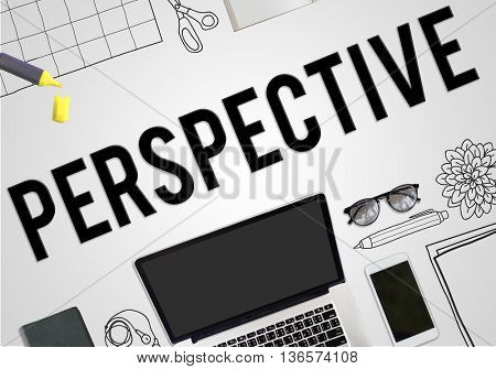 Perspective View Opinion Business Concept