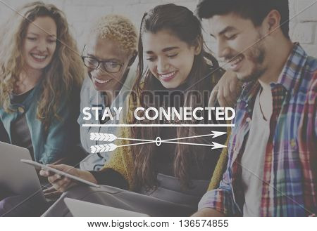 Stay Connected Internet Network Share Social Concept