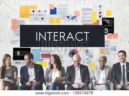 Interact Communication Connection Corporate Concept