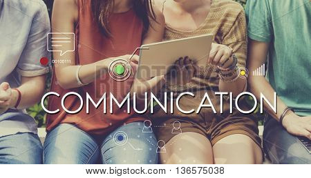 Communication Message icon graphic concept