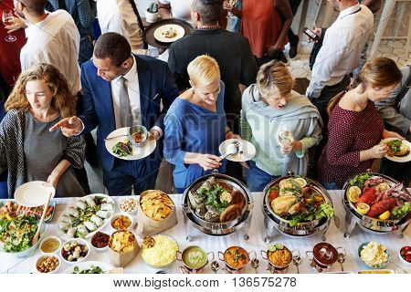Buffet Catering Cafe Cuisine Culinary Meal Unity Concept