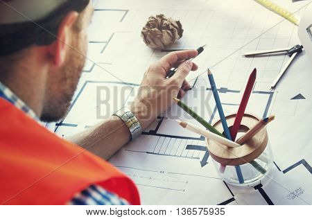 Architect Engineer Design Construction Constructor Concept