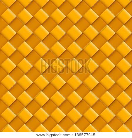 Orange Seamless Pattern with Convex Square Design