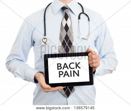 Doctor Holding Tablet - Back Pain